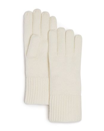 C by Bloomingdale's - Cashmere Ribbed Gloves - 100% Exclusive
