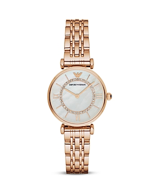 Emporio Armani Swarovski Crystal Studded Watch, 32mm