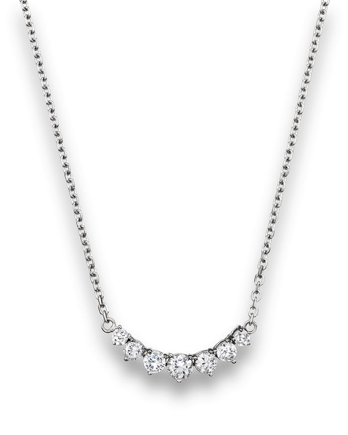 Bloomingdale's - Diamond 7 Stone Necklace in 14K White Gold, 1.50 ct. t.w.- 100% Exclusive