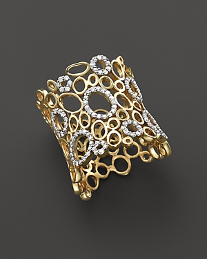 Diamond Circles Statement Ring in 14K Yellow Gold, .55 ct. t.w. - 100% Exclusive