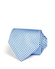 The Men's Store at Bloomingdale's Micro Grid Wide Tie - 100% Exclusive_0