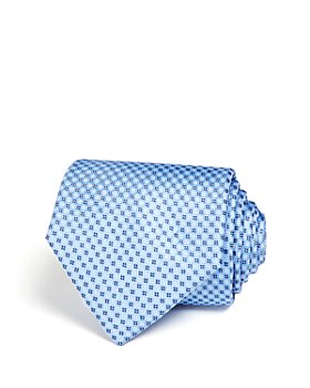 The Men's Store at Bloomingdale's - Micro Grid Wide Tie - 100% Exclusive