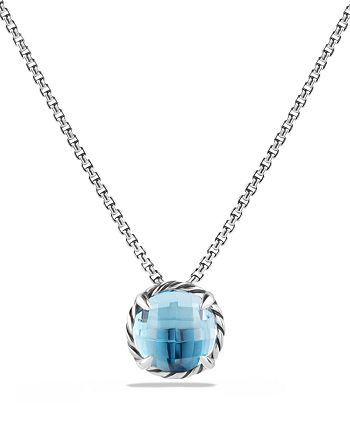 David Yurman - Châtelaine® Pendant Necklace with Blue Topaz