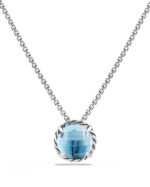 David Yurman - Châtelaine Pendant Necklace with Blue Topaz