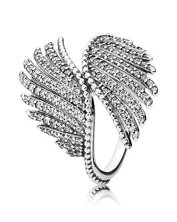 Pandora - Ring - Sterling Silver & Cubic Zirconia Majestic Feathers