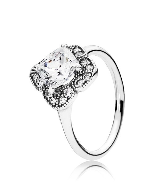 PANDORA - Ring - Sterling Silver & Cubic Zirconia Floral Fancy