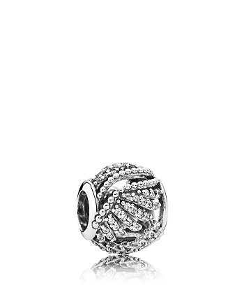 PANDORA - Charm - Sterling Silver & Cubic Zirconia Majestic Feathers, Moments Collection