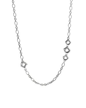 John Hardy Naga Sterling Silver Figaro Chain Necklace with Figurative Clasp, 36