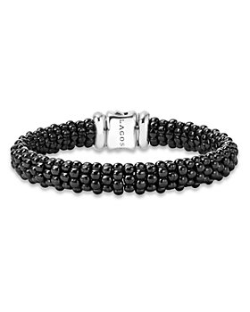 LAGOS - Black Caviar Ceramic 18K Gold and Sterling Silver Bracelets