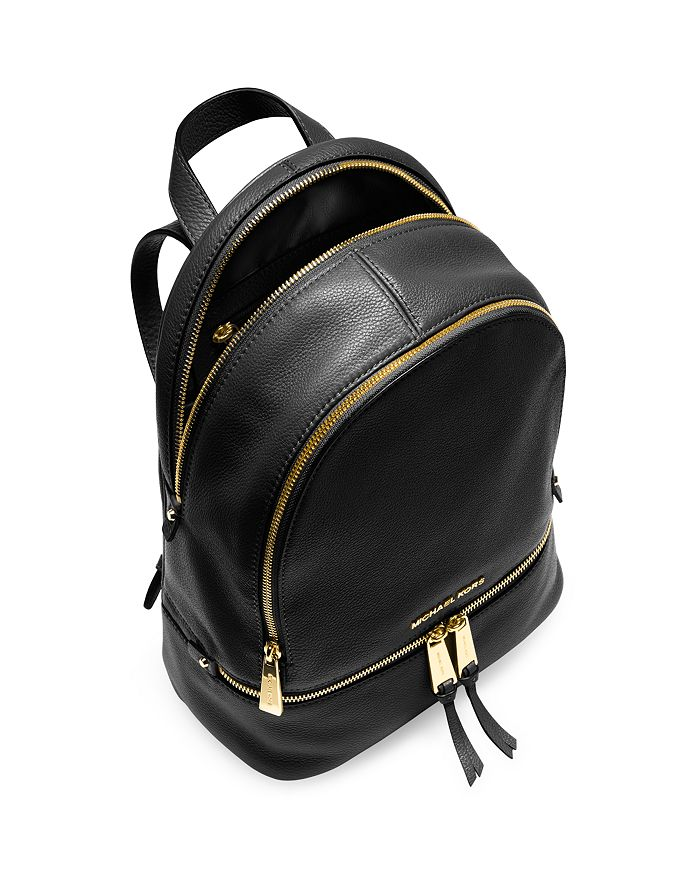 276081b2dacb MICHAEL Michael Kors Rhea Zip Small Leather Backpack   Bloomingdale's