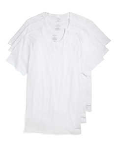 Calvin Klein Cotton Classics Slim Fit Crew Neck Tees, Pack of 3 - Bloomingdale's_0
