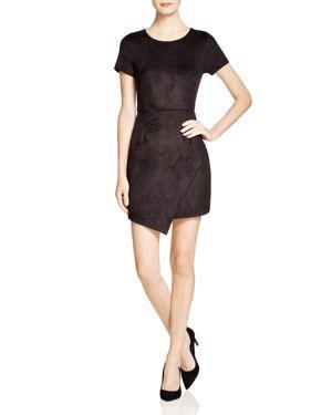Aqua Faux Suede Dress - 100% Exclusive