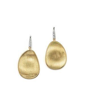 Marco Bicego 18K Yellow Gold and Diamond Lunaria Drop Earrings