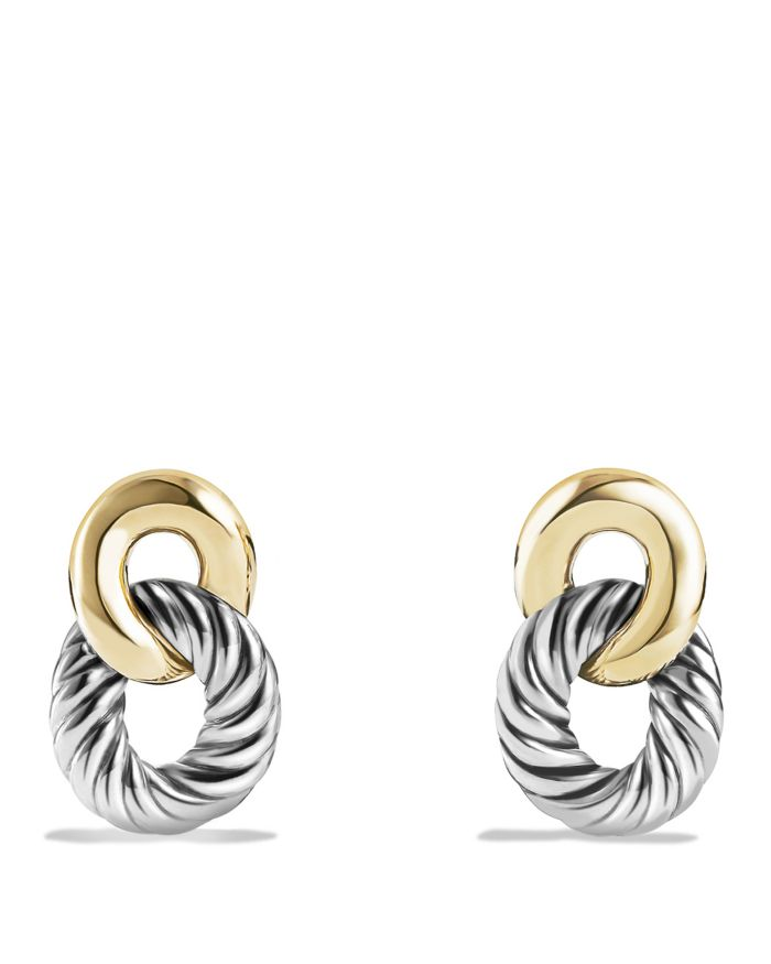 David Yurman Belmont Drop Earrings with 18K Gold  | Bloomingdale's