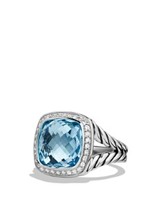 David Yurman - David Yurman Albion Ring with Blue Topaz and Diamonds