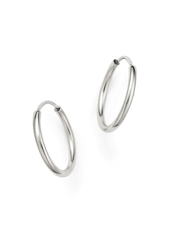 Bloomingdale's - 14K White Gold Endless Hoop Earrings - 100% Exclusive