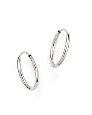 14K White Gold Endless Hoop Earrings - 100% Exclusive