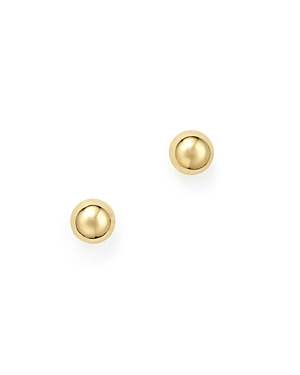 14K Yellow Gold Small Ball Stud Earrings - 100% Exclusive