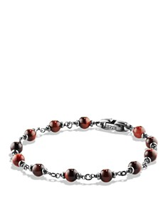 David Yurman - David Yurman Spiritual Beads Rosary Bracelet in Red Tiger Eye