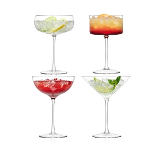 Lsa Lulu Assorted Champagne/Martini Glasses, Set of 4
