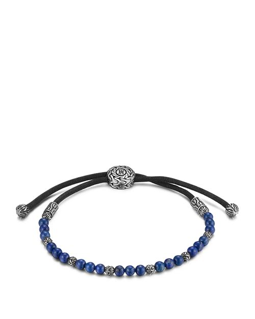 John Hardy Men S Sterling Silver Clic Chain Beaded Bracelet With Lapis Lazuli