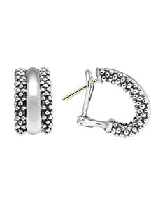 LAGOS - LAGOS Caviar Hoop Earrings in Sterling Silver