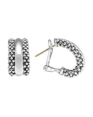 Lagos Caviar Hoop Earrings in Sterling Silver