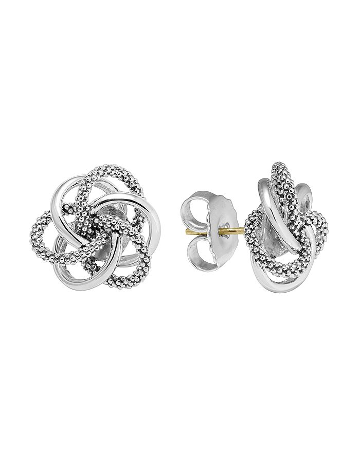 """LAGOS - Sterling Silver Knot """"Caviar"""" Earrings"""