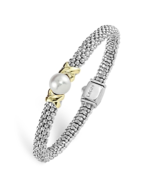 Lagos Sterling Silver Luna Cultured Freshwater Pearl Rope Bracelet-Jewelry & Accessories