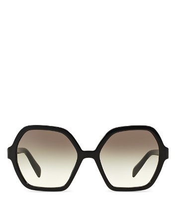 $Prada Oversized Octagon Sunglasses, 56mm - Bloomingdale's
