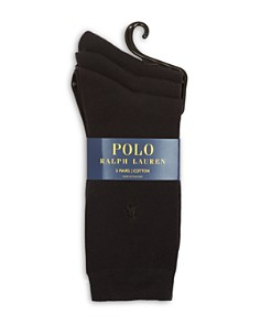 Ralph Lauren - Classic Flat Knit Socks, Set of 3