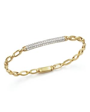 Diamond Id Bracelet in 14K Yellow Gold, .50 ct. t.w.