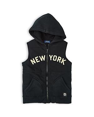 Ralph Lauren Childrenswear Boys' New York Fleece Vest - Little Kid