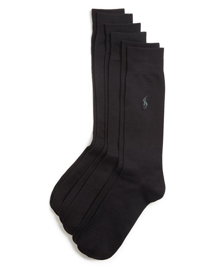 Polo Ralph Lauren - Solid Dress Socks, Pack of 3