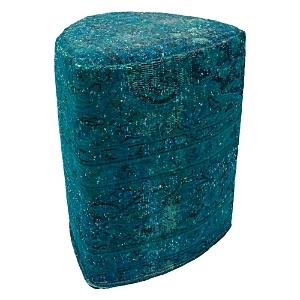 Bloomingdale's Vintage Carpet Ottoman, Blue