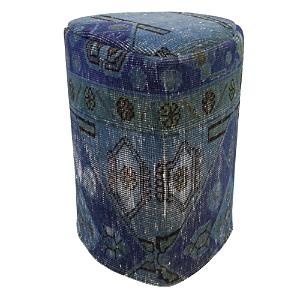 Bloomingdale's Vintage Carpet Ottoman, Blue Green