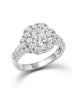 Bloomingdale's - Emerald Cut Diamond Engagement Ring in 18K White Gold, 2.20 ct. t.w.- 100% Exclusive
