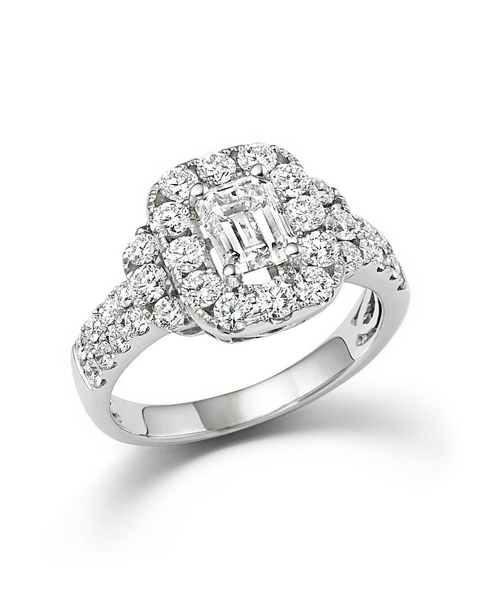 Bloomingdale's - Emerald Cut Diamond Engagement Ring in 18K White Gold, 2.20 ct. t.w. - 100% Exclusive