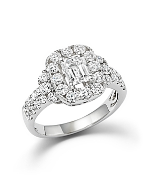 Click here for Emerald Cut Diamond Engagement Ring in 18K White G... prices