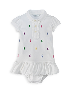 Ralph Lauren Childrenswear Infant Girls Ruffled Polo Dress  Baby
