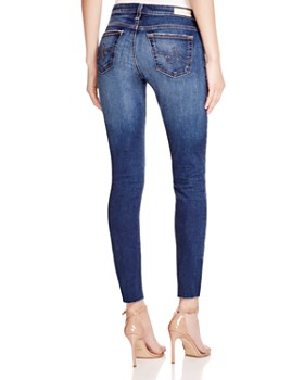 AG - Legging Ankle Jeans with Raw Hem in 7 Years Break