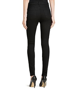J Brand - Maria High Rise Skinny Jeans in Seriously Black