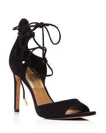 Dolce Vita - Hazeley Peep Toe Lace Up High-Heel Sandals