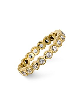 Temple St. Clair - Temple St. Clair 18K Gold Eternity Ring with Diamonds