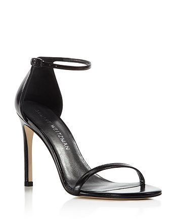 Stuart Weitzman - Women's Nudistsong Leather Ankle Strap Sandals