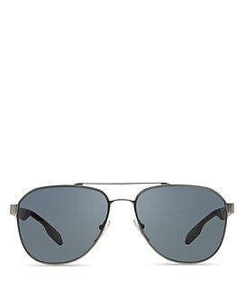 Prada - Men's Polarized Punched Aviator Sunglasses, 60mm