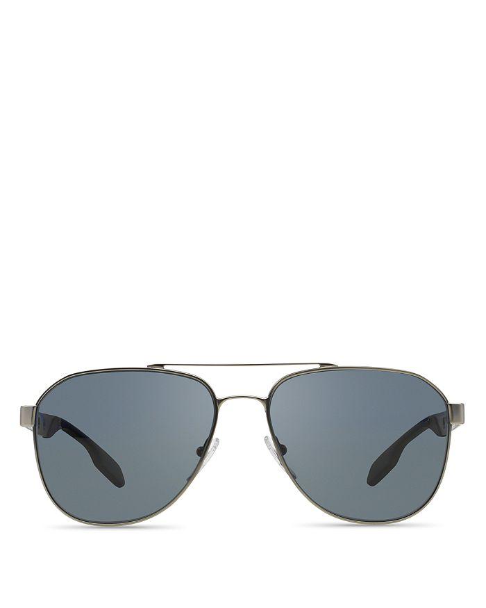 4aeb252a794e Prada Men's Polarized Punched Aviator Sunglasses, 60mm | Bloomingdale's