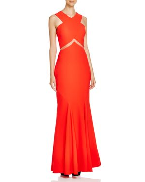 Lm Collection Cross Front Illusion Inset Gown