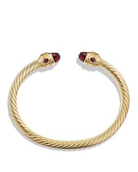 David Yurman - Renaissance Bracelet with Garnet in 18K Gold