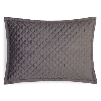 Hudson Park Collection - Double Diamond Quilted Standard Sham - 100% Exclusive